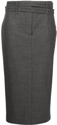 Brunello Cucinelli High-Waisted Wraparound-Belt Skirt