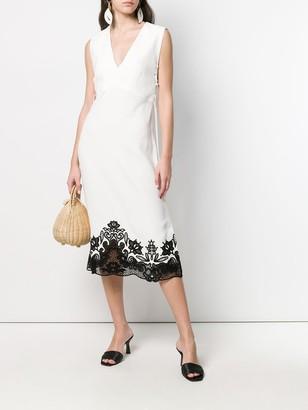 Sleeveless Lace-Up Dress