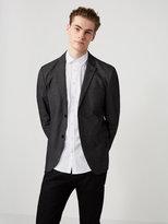 Frank + Oak The Laurier Cotton-Blend Knit Blazer in Black Heather