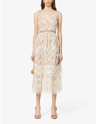 Self-Portrait Sequin embellished midi dress