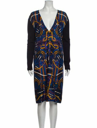 Hermes Silk Midi Length Dress w/ Tags Purple
