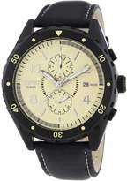 Esprit ES105551002 - Men's Watch, Leather, Black Tone