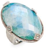 Jude Frances Encore Lisse Elongated Oval Large Stone Ring