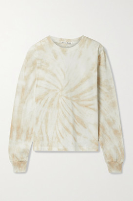 Reformation Net Sustain Boyfriend Tie-dyed Organic Cotton-jersey Top - Beige