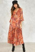 Nasty Gal The Price You Paisley Maxi Dress