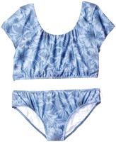 Seafolly Tropical Vacation Tie Back Tankini Top Girl's Swimwear