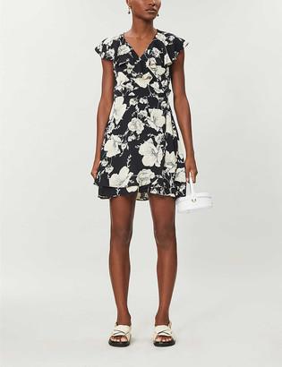 Free People French Quarter floral-print woven mini wrap dress