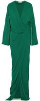 Vionnet Wrap-Effect Jersey Gown