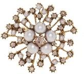 Natasha Accessories Faux Pearl Starburst Flower Pin