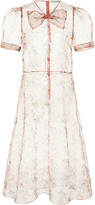 Jill Stuart Berrin Sheer Floral Dress