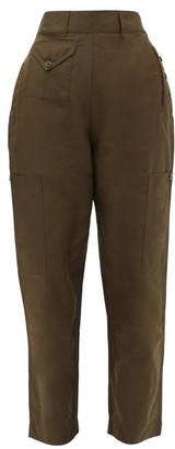 Katharine Hamnett Denise Organic Cotton-blend Trousers - Womens - Khaki
