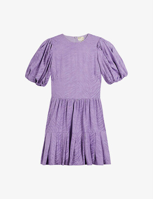 Ted Baker Cotswld animal-print woven mini dress