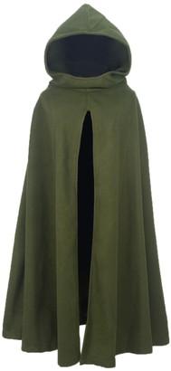 FUTURINO Women's Winter/Autumn Gothic Hooded Open Front Loose Cape Coat Outwear Jacket Cloak Black