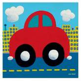 Oopsy Daisy Fine Art For Kids Red Car Canvas Wall Art