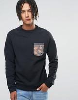 Billabong Crew Neck Floral Pocket Sweat Sweater