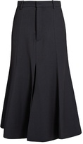 Raey Fit-and-flare twill midi skirt