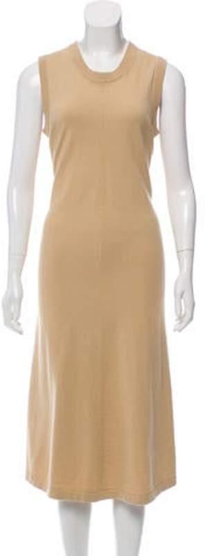 Joseph Sleeveless Knit Dress Tan Sleeveless Knit Dress