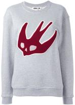 McQ by Alexander McQueen skull swallow sweatshirt - women - Cotton - M