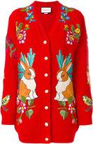 Gucci Rabbit oversized cardigan - women - Wool - S