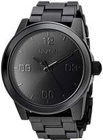 Nixon Women's 'G.I. SS' Quartz Metal and Stainless Steel Watch, Color:Black (Model: A919001-00)