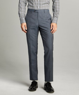 Todd Snyder Sutton Wool Linen Suit Trouser in Grey Navy Check