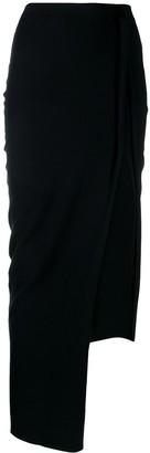 Rick Owens Side Slit Midi Skirt