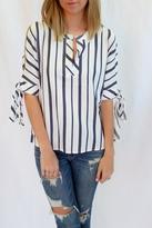 Velvet Heart Stripe Print Blouse