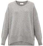 Allude Oversized Cashmere Sweater - Womens - Dark Grey