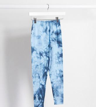 ASOS DESIGN Petite legging in tonal tie dye