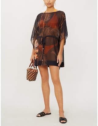 Ted Baker Cemiaa floral-print crepe cover-up