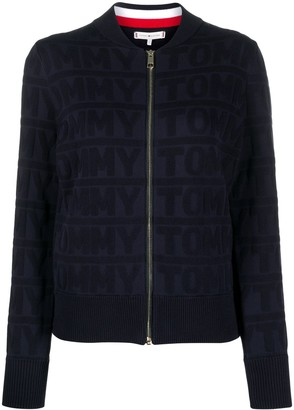 Tommy Hilfiger Zipped All-Over Logo Jacket