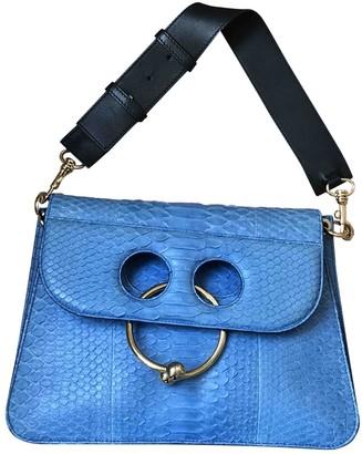 J.W.Anderson Pierce Blue Python Handbags