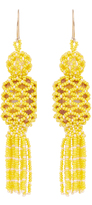 Etro Bead and stone-embellished tassel earrings