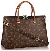 L*V LV Monogram Canvas Pallas Handbag Noir Article: M41147 Made in France