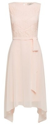Dorothy Perkins Womens Billie & Blossom Pink Diagonal Lace Midi Dress, Pink