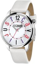 Just Cavalli Women's R7251138645 Trendy White calfskin band watch.