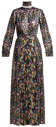 Raquel Diniz Olivia Floral-print Silk Dress - Black Multi