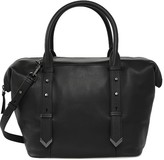 Mackage Doc Leather Duffle Bag In Black