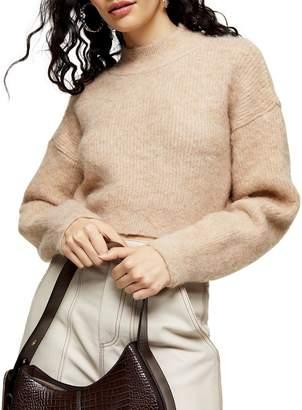 Topshop Super Crop Brushed Knit Sweater