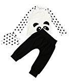 Fheaven Newborn Baby Boys Girls Long Sleeve T Shirt Dot Tops+Pants+Hat Outfits Clothes 3Pcs (6M)