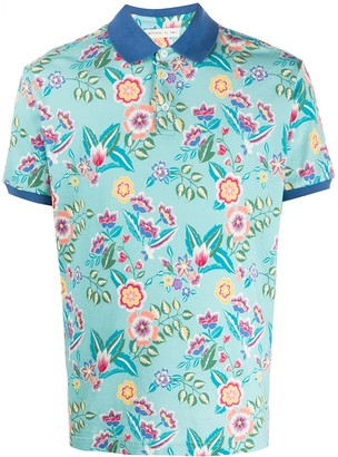 Etro Floral-Print Polo Shirt