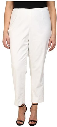 Nic+Zoe Plus Size Perfect Side Zip Ankle Pants (Paper White) Women's Casual Pants