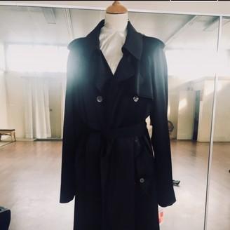 Saint Laurent Black Silk Trench Coat for Women Vintage