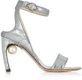 Nicholas Kirkwood Silver Sequins 90mm Lola Pearl Sandals