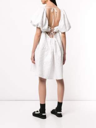 Cecilie Bahnsen back-tie jacquard effect dress
