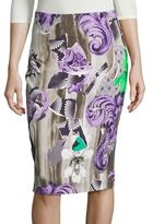 Versace Printed Pencil Skirt