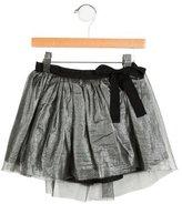 Bonpoint Girls' Mesh Flared Skirt
