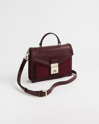 Ted Baker Leather Luggage Lock Mini Satchel Bag