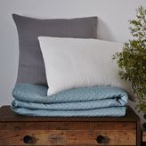 west elm Organic Braided Matelasse Duvet Cover + Shams - Feather Gray