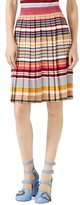 Gucci Lurex® Striped Skirt, White/Multi